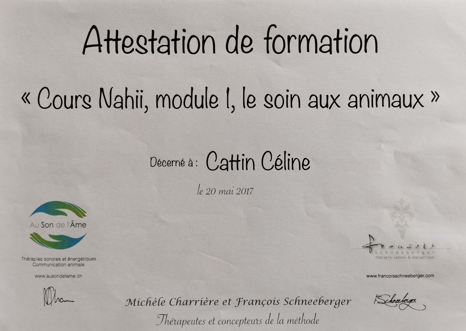 Cours nahii module 1 soin animaux